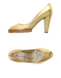 Walter Steiger Footwear Courts Women Gold