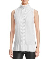 Bloomingdale's C By Cable Knit Sleeveless Cashmere Sweater Snow