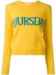 Alberta Ferretti Thursday Jumper Yellow Orange