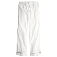 J.Crew Pajama Pant In End On End Cotton White
