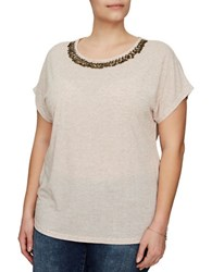 Junarose Ragnhild Embellished Top Moonlight