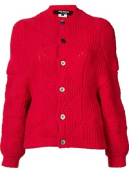Comme Des Garcons Junya Watanabe Chunky Cardigan Red