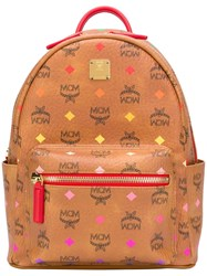 Mcm Spectrum Diamond Backpack Brown