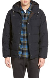 Men's Quiksilver 'Belmore' Quilted Hooded Jacket Anthracite