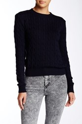 American Apparel Cable Knit Sweater Blue