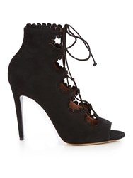 Tabitha Simmons Farraday Suede Lace Up Pumps Black