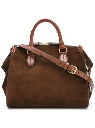 Ralph Lauren Zipped Tote Brown
