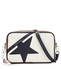 Golden Goose Star Canvas Shoulder Bag Neutrals