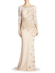 Basix Black Label Embellished Gown White Gold White Gold