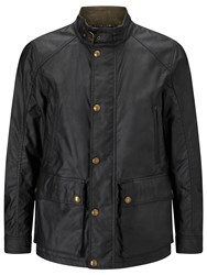 Belstaff Tourmaster Water Resistant Biker Waxed Cotton Jacket Black
