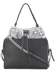 Maison Martin Margiela Sequin Embellished Shoulder Bag Black