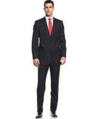 Tommy Hilfiger Black Tonal Stripe Classic Fit Suit