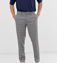 Noak Slim Fit Checked Trousers In Grey