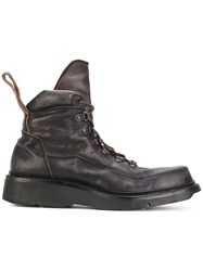Julius Ankle Length Boots Leather Rubber Brown