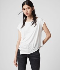 Allsaints Hatti Short Sleeve T Shirt Chalk White