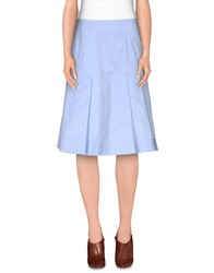 Philosophy Di Alberta Ferretti Skirts Knee Length Skirts Women Sky Blue
