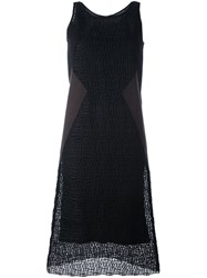 Neil Barrett Textured Shift Dress Black