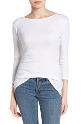 Caslonr Women's Caslon Three Quarter Sleeve Tee White
