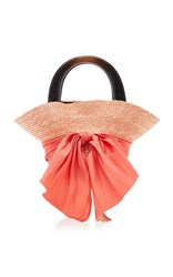 Eugenia Kim Evie Straw Tote Orange
