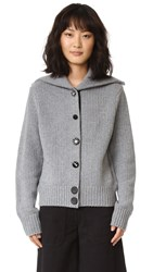 Marc Jacobs Long Sleeve Cardigan Grey Melange