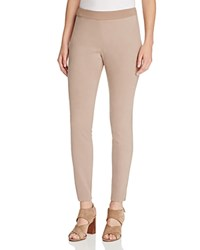 Magaschoni Faux Suede Paneled Skinny Pants Manor House