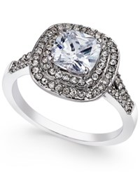 Charter Club Silver Tone Double Halo Crystal Center Ring Only At Macy's