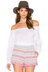 Rag And Bone Off The Shoulder Top White