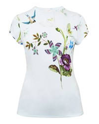 Ted Baker Marliin Spring Meadows Fitted T Shirt Pastel Blue