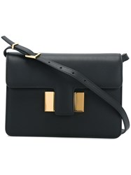 Tom Ford Foldover Top Crossbody Bag Black