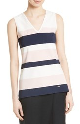 Ted Baker Women's London Nenti Stripe Knit Shell Ivory