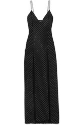 Balmain Chain And Crystal Embellished Stretch Jersey Gown Black