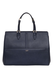 Giorgio Armani Weekend Saffiano Leather Top Handle Bag Navy