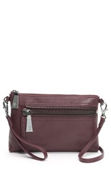 Frye Lena Leather Crossbody Bag Burgundy Wine