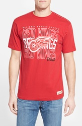 Mitchell Ness 'Detroit Red Wings' Graphic T Shirt Scarlet