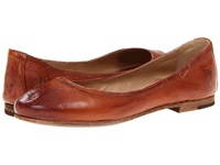 Frye Carson Ballet Cognac Antique Soft Full Grain Women's Flat Shoes Tan