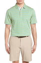 Bobby Jones Xh2o Feed Stripe Polo Cabana Blue