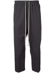 Rick Owens Cropped Tailored Trousers Blue