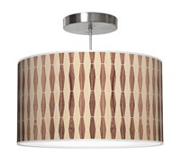 Jefdesigns Weave 2 Pendant Jd_Weave2_Oak Walnut White Oak And Walnut Thao16 16 In Diameter Beige