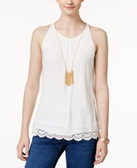 Amy Byer Bcx Juniors' Sleeveless Necklace Blouse