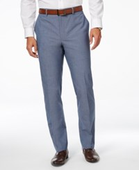 Alfani Red Men's Flat Front Chambray Pants Only At Macy's Chambray Blue
