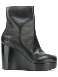 Maison Martin Margiela 'Tabi' Wedge Ankle Boots Black
