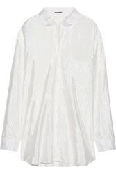 Jil Sander Oversized Satin Shirt White