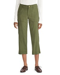 Ralph Lauren Cropped Straight Leg Pants Green