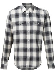 Maison Martin Margiela Maison Margiela Casual Checked Shirt Grey