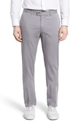 Brax Men's Big And Tall Flat Front Stretch Trousers Grey