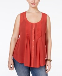 American Rag Plus Size Sleeveless Pintucked Blouse Only At Macy's Bosa No Va