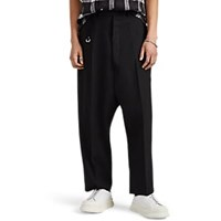 Rick Owens Karloff Drop Rise Virgin Wool Trousers Black