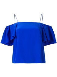 Fendi Cut Off Shoulders Blouse Blue