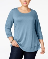 Styleandco. Style Co. Plus Size Chiffon Hem Top Only At Macy's Stillwater