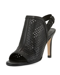 Sesto Meucci Bendyk Perforated Leather Sandal Black